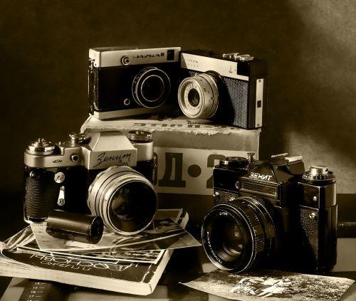 still life cameras box