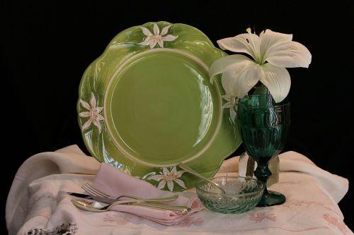 still life dining plate