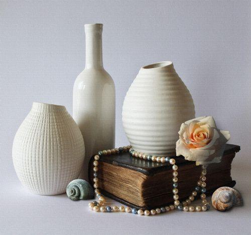 still life vases decoration