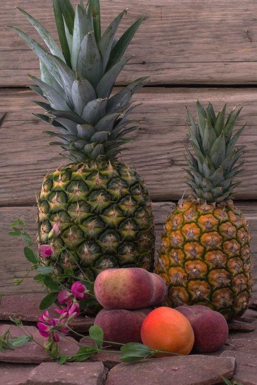 still life fruit pineapple