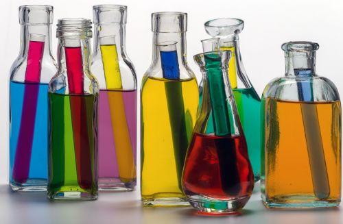 still life bottles color