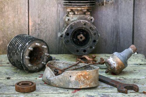 still life tool old engine