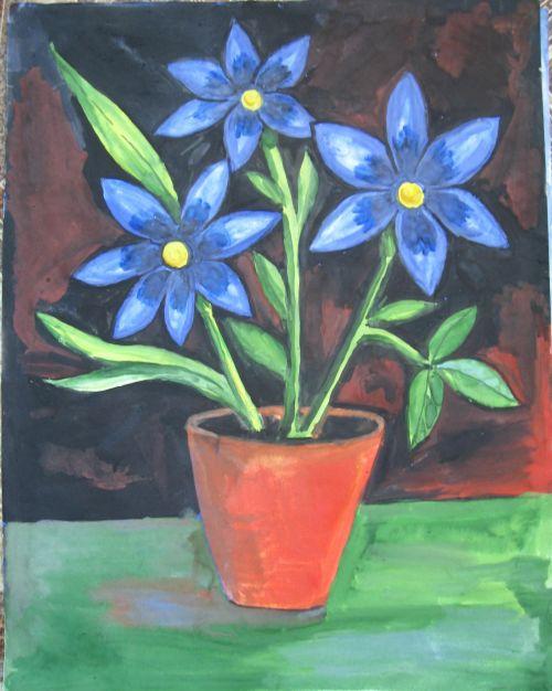 Astronija, dažymas, guašas, gėlė, dažai, nuotrauka, vis dar & nbsp, gyvenimas, pechkareva, vaizdas, menas, vis dar gyvenimas su gėlėmis