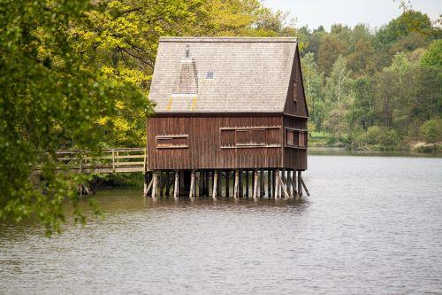 stilt house fishing home