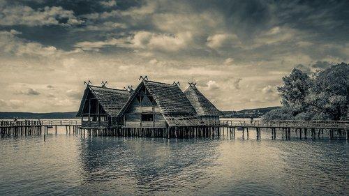 stilt houses  unteruhldingen  pile dwelling museum