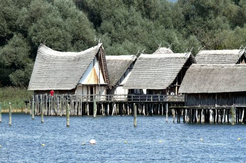 stilt houses lake constance lake dwellings