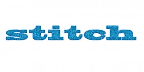 Stitch Word Texture Background