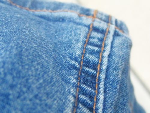 Stitching On Blue Jeans