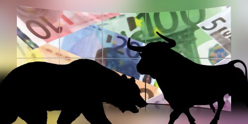 stock exchange bull bear
