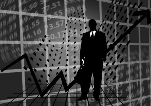stock exchange businessman silhouette