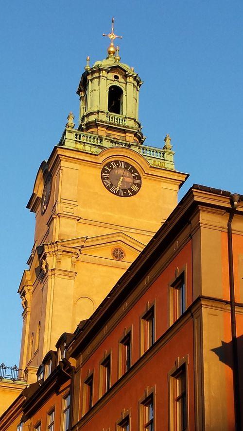stockholm church sun