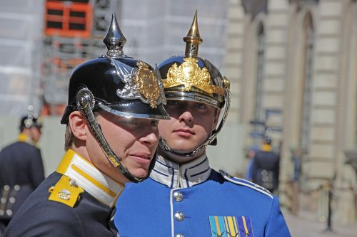 stockholm royal guard portrait