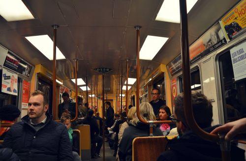 stockholm subway passengers
