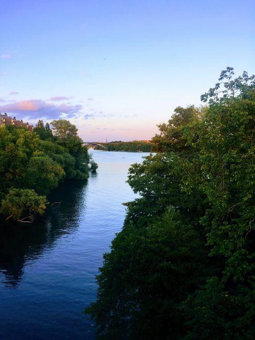 stockholm river sunset