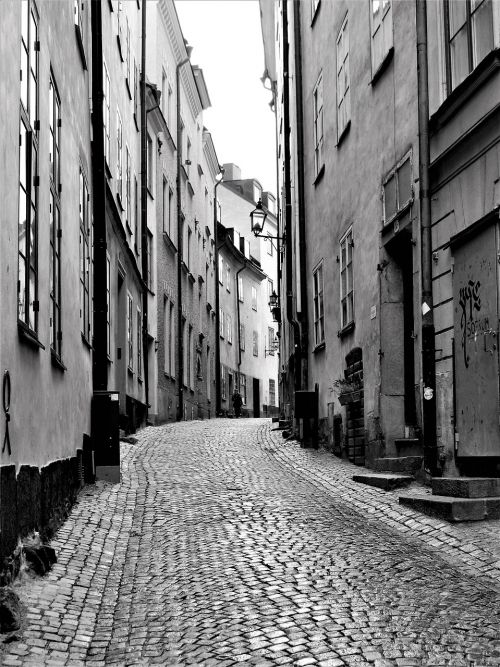 stockholm the old town alley