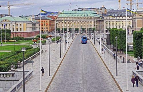stockholm  parliament island  boulevard