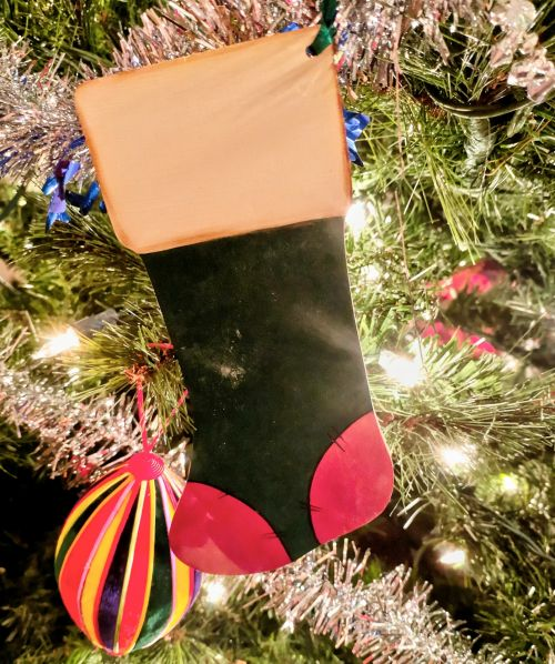Stocking In Christmas Tree