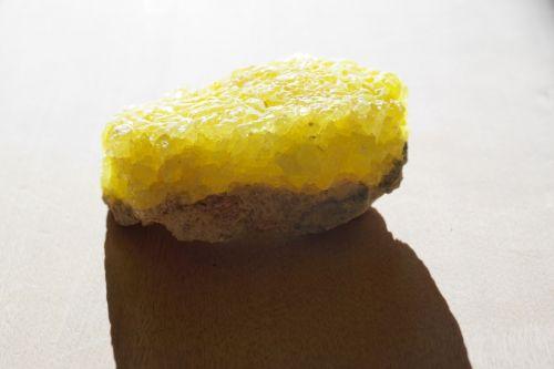 stone sulfur crystal
