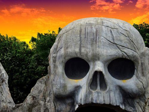 stone rock head