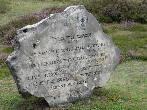 stone jewish bergen-belsen