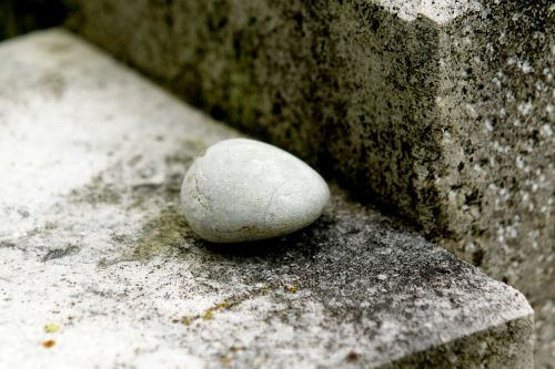 stone contemplative rest