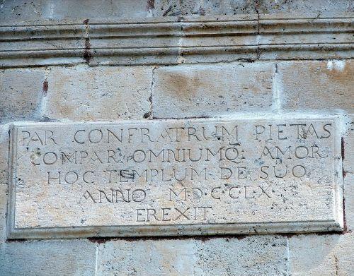 stone latin language inscription