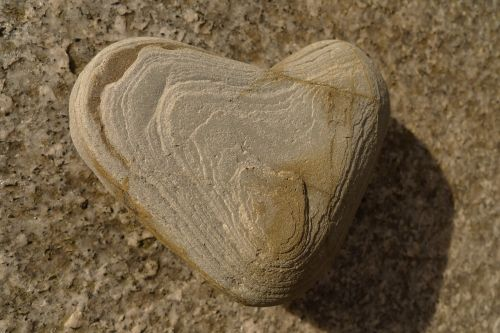 stone heart heart shape