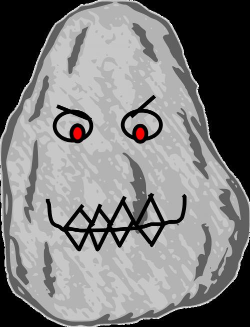 stone rock cartoon