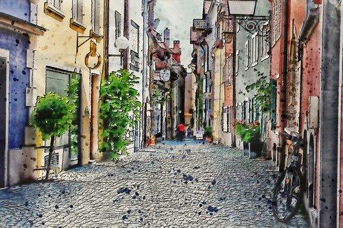 stone  street  alley