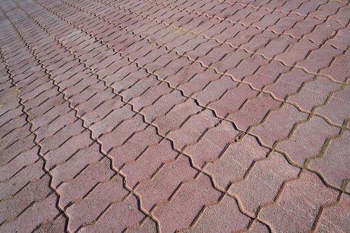 stone  sidewalk  red