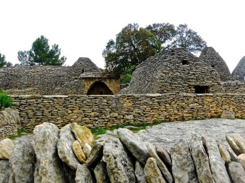 stone wall buildings