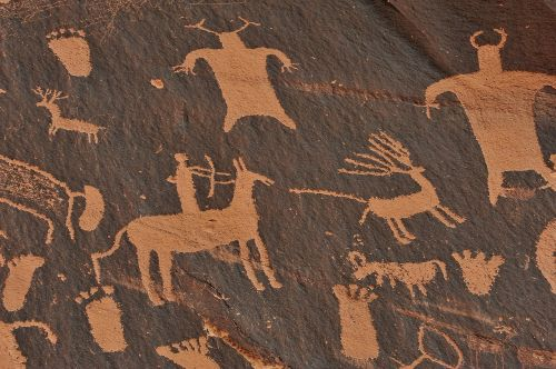 stone age mural indians