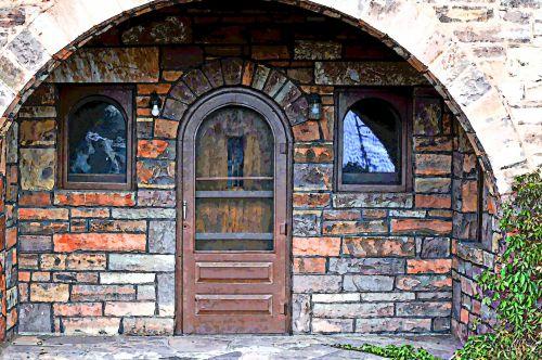 Stone Arch Entryway