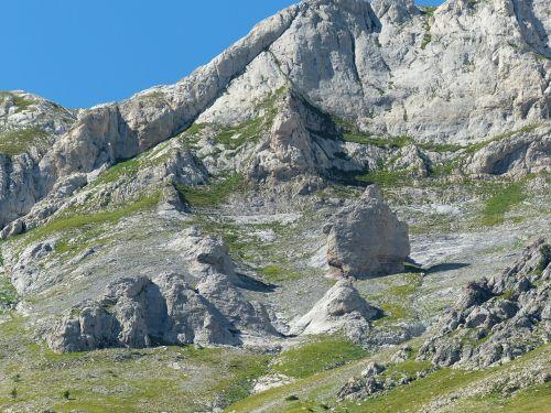 stone block rock climbing area