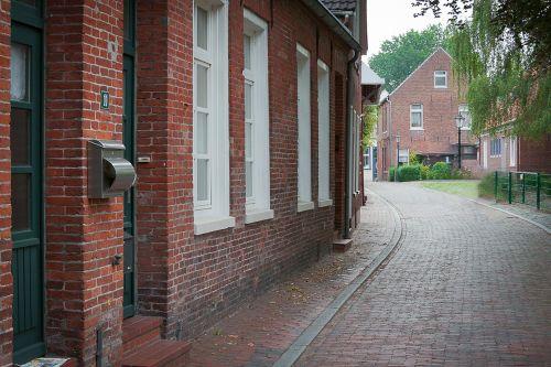 stone built house bricks east frisia