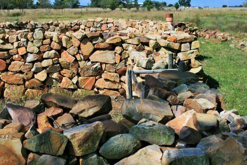 Stone Built Kraal For Farm Animals