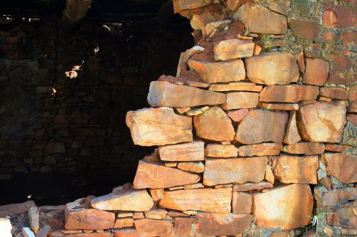 stone built ruin ruin building