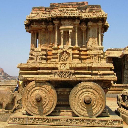 stone chariot hampi unesco world heritage site