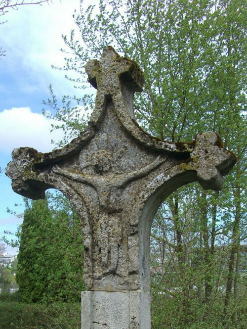 stone cross wayside cross old