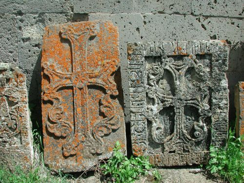 stone crosses rock carving antique