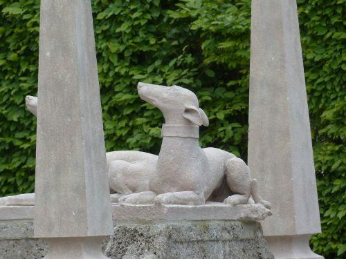 stone figure dog statue