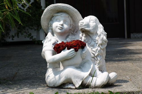 stone figure garden statue