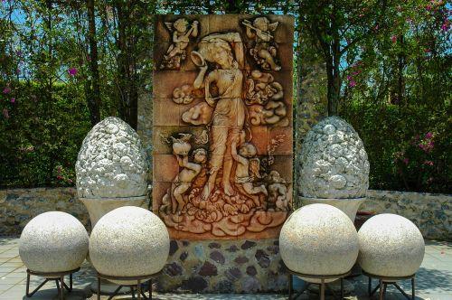 stone figure relief stone balls