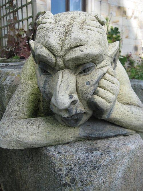 stone figure  fash  devil