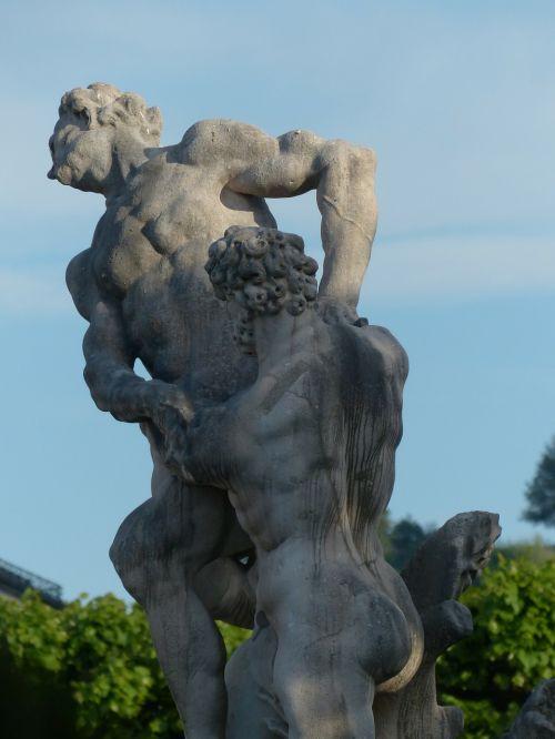 stone figures men sculpture