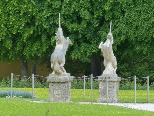 stone figures figures unicorns
