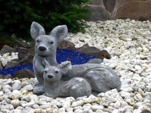 stone figures figures deer
