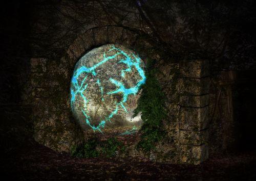 stone gate fantasy ruin