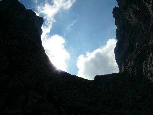 stone gutter ellmauer gate mountains