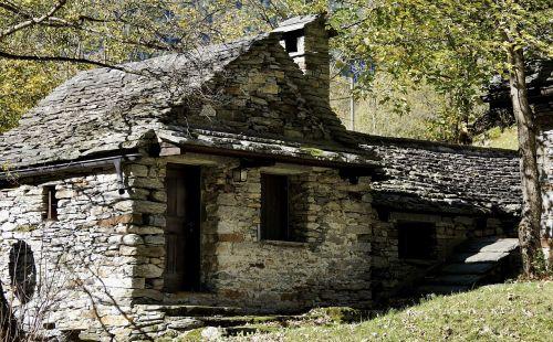 stone house facade building